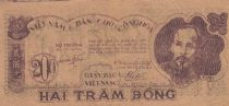 Viet Nam 200 Dong Ho Chi Minh - 1950 - P.34 a - F to VF - Serial KS 031