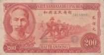 Viet Nam 200 Dong Ho Chi Minh, soldiers - 1951 Serial AB - VF - P.63