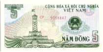 Viet Nam 5 Dong, Tour d\'Hanoi - Sampans - 1985 - P.92