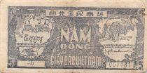 Viet Nam 5 Dong Ho Chi Minh 1948 - Serial F.057131 - VF