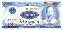 Viet Nam 5000 Dong, Ho Chi Minh - Dam - 1991 - P.108