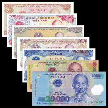 Viet Nam Set of 7 banknotes - Ho Chi Minh - UNC