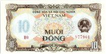 Vietnam 10 Dong,  Armoiries - Maison et palmiers - 1980 - P.86