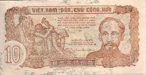 Vietnam 10 Dong Ho Chi Minh, soldats - Travailleurs 1952