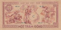 Vietnam 100 Dong Ho Chi Minh - 1948 - P.28a Sans filigrane