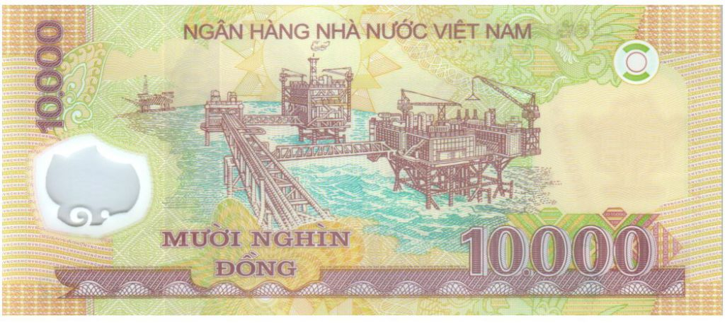 Vietnam 10000 Dong Ho Chi Minh - Plateforme pétroliere 2017 Polymer