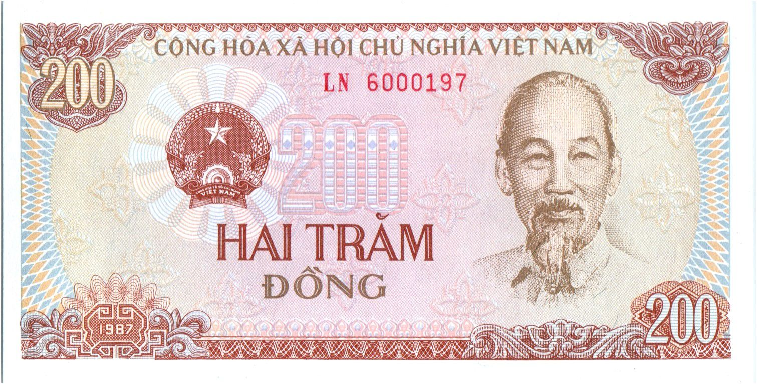 Vietnam 200 Dong,  Ho Chi Ming - Tracteur - 1987 - P.100