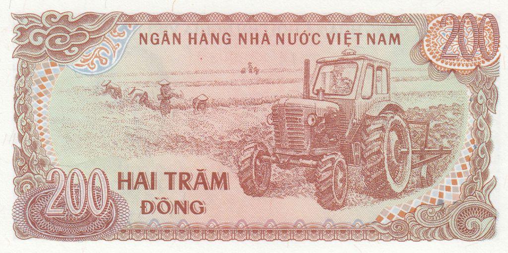 Vietnam 200 Dong Ho Chi Ming - Tracteur