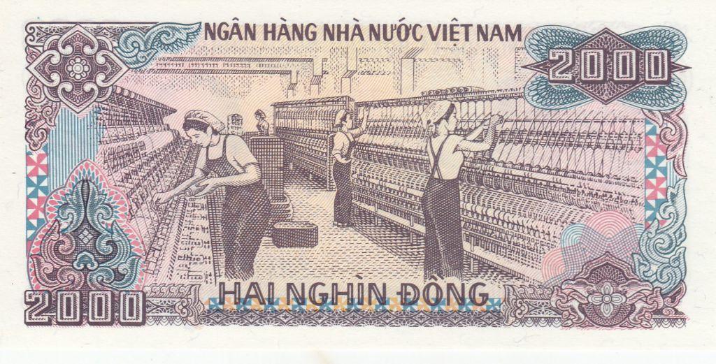 Vietnam 2000 Dong Ho Chi Minh, Industrie textile