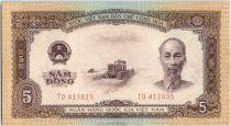 Vietnam 5 Dong, Ho Chi Minh - Chantier - 1958 - P.73