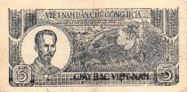 Vietnam 5 Dong Ho Chi Minh 1948 - Série R.09946 - TTB