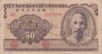 Vietnam 50 Dong Ho Chi Minh - Paysans - 1951 - TB + - P.61b