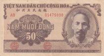 Vietnam 50 Dong Ho Chi Minh - Paysans - 1951 - TTB - P.61b