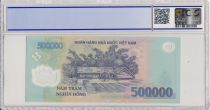 Vietnam 500000 Dong Ho Chi Minh - Maison, champs - 2017 Polymer - PCGS 69 OPQ