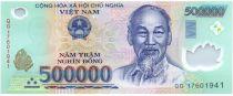 Vietnam 500000 Dong Ho Chi Minh - Maison, champs - 2017 Polymer