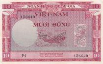 Vietnam du Sud 10 Dong 1955 p3a