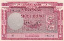 Vietnam du Sud 10 Dong Poisson - Bateaux - 1955