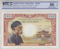 Vietnam du Sud 1000 Dong Viel Homme - 1956 - Epreuve Specimen Neuf - Rare ! PCGS 66 OPQ