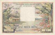 Vietnam du Sud 20 Dong Huttes - Paysans - 1956 Série R.1
