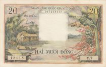 Vietnam du Sud 20 Dong Huttes - Paysans - 1956 Série Y.7