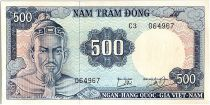 Vietnam du Sud 500 Dong, Tran Hung Dao - Jonque -  1966 - P.23