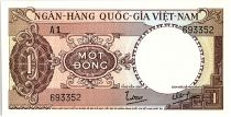 Vietnam South 1 Dong, Brown- Tractor - 1964 - P.15  - Alp A1