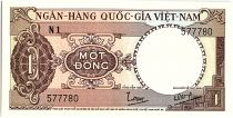 Vietnam South 1 Dong, Brown- Tractor - 1964 - P.15  - Alp N1