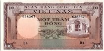 Vietnam South 100 Dong, Bulding - Dam - 1966 - P.18
