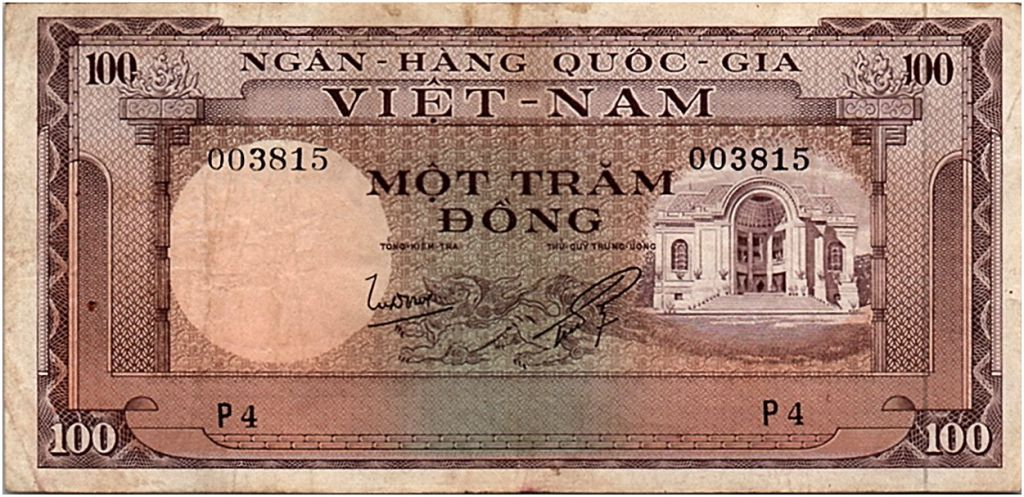 South Vietnam 100 Dong 1966 P-18 VF