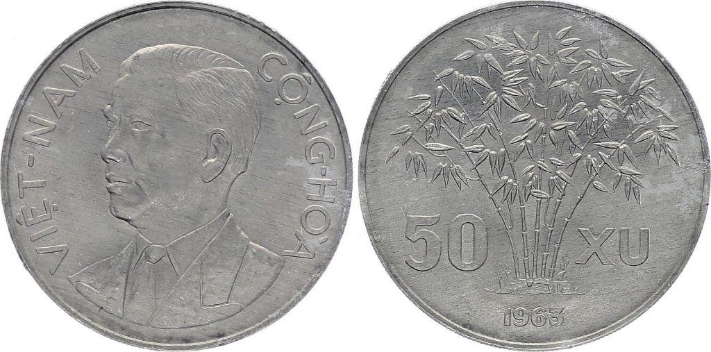 1963 Vietnam 50 Xu