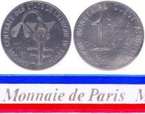 West AFrican States 1 Franc - 1976 - Test strike