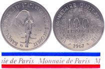 West AFrican States 100 Francs - 1967 - Test strike