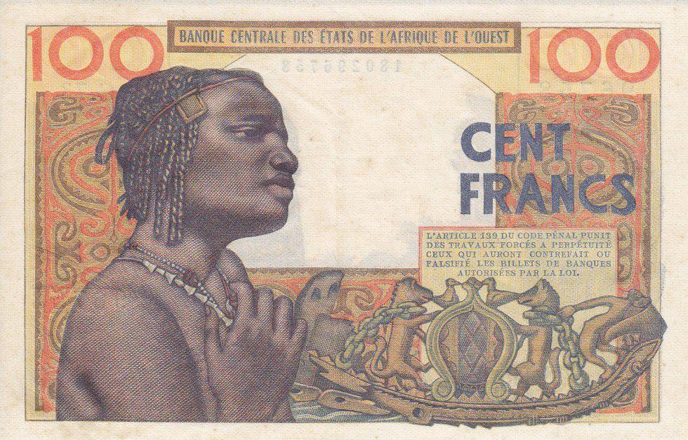 West AFrican States 100 Francs Mask - 1959
