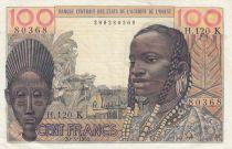 West AFrican States 100 Francs masque 1961 - K Senegal