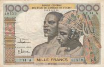 West AFrican States 1000 Francs river 1961 - Serial P.44