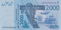 West AFrican States 2000 Francs Mask - Fish - Togo 2018