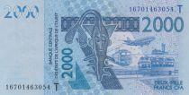 West AFrican States 2000 Francs Mask - Fish - Togo 2018