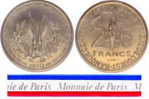 West AFrican States 25 Francs - 1970 - Test strike