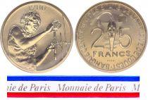 West AFrican States 25 Francs - 1980 - Test strike