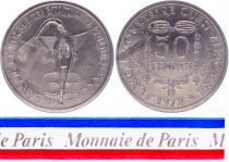 West AFrican States 50 Francs - 1972 - Test strike