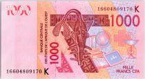 West AFrican States 500 Francs Mask - Hippopotamus - 2016 K Sénégal