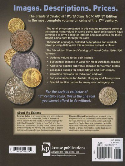 World Coins 1601-1700 - 5ème Edition 2012