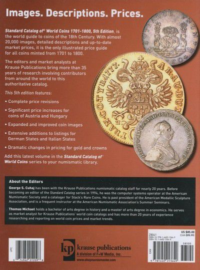 World Coins 1701-1800 5th edition,2011