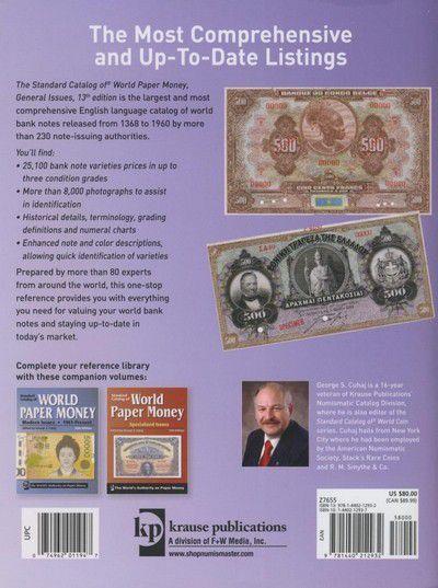 World Paper Money, 1368-1960, 13th edition 2010