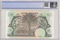 Yémen (République Démocratique) 10 Dinars Bateau - Palmier - 1984 - PCGS 68 OPQ