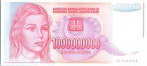 Yougoslavie 1 Milliard de Dinara de Dinara, Jeune Fille - Parlement - 1993