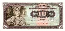 Yougoslavie 10 Dinara  - Ouvrier - 1965