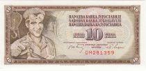 Yougoslavie 10 Dinara - Ouvrier - 1968