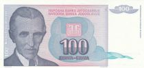 Yougoslavie 100 Dinara 1994 - Nikola Tesla - Musée Tesla