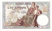 Yougoslavie 100 Dinara Femme Assice et enfant  - 1934